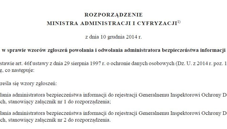 Czy muszę do 30 czerwca powołać Administratora Bezpieczeństwa Informacji?